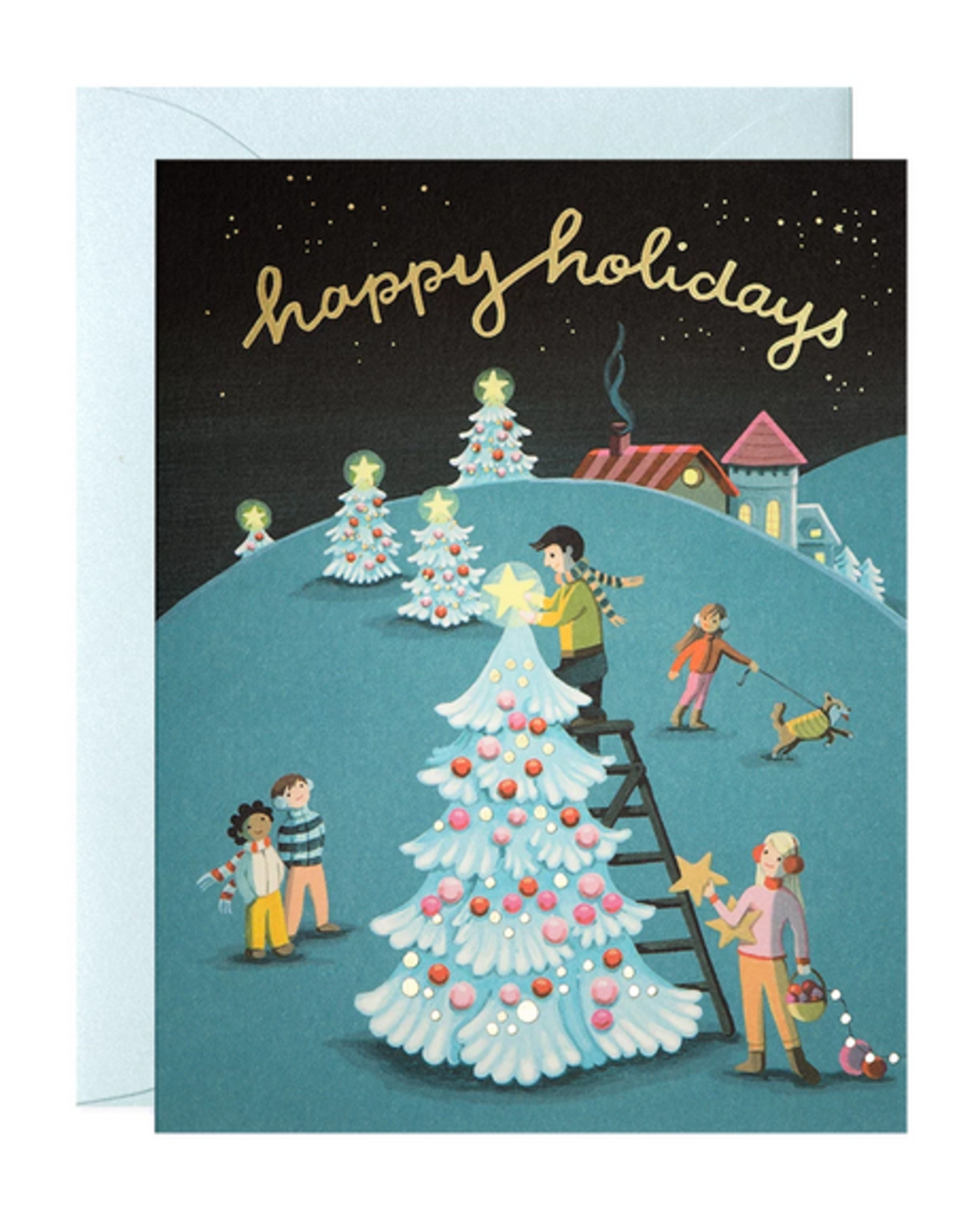 Tree Decorating Holiday Card Box Set