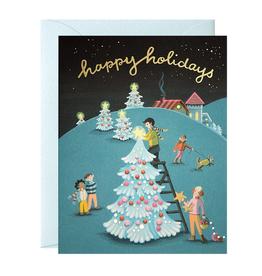 JooJoo Paper Tree Decorating Holiday Card Box Set