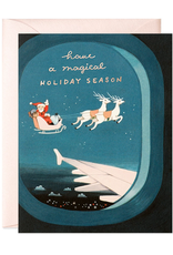 Plane Window Santa Holiday Card Box Set