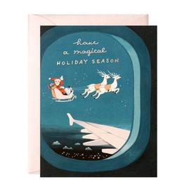 JooJoo Paper Plane Window Santa Holiday Card Box Set