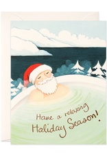 Hot Spring Santa Holiday Card Box Set