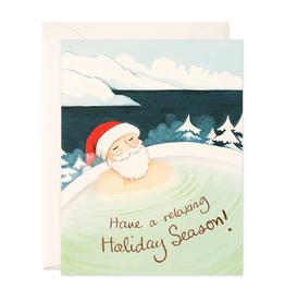 Hot Spring Santa Holiday Card Box Set