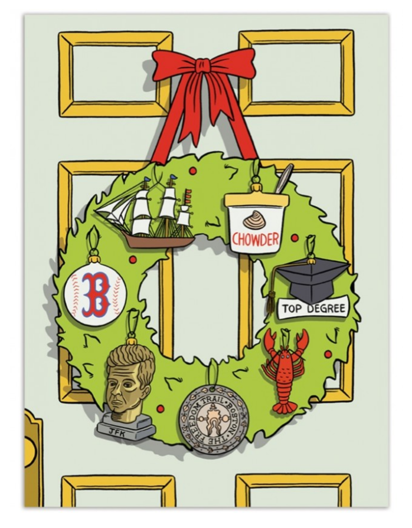 Boston Wreath Greeting Card