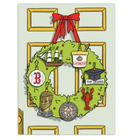 The Found Boston Wreath Greeting Card