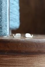 Whale Stud Earrings - Sterling Silver