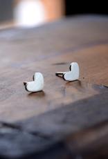 Tiny Heart Stud Earrings - Sterling Silver