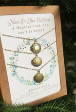 Figs and Ginger Mom and Her Children Locket Set of 3 Necklaces