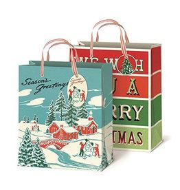 Cavallini Winter Wonderland Gift Bags Set of 2