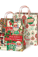 Cavallini Vintage Christmas Gift Bags Set of 2