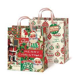 Vintage Christmas Gift Bags Set of 2