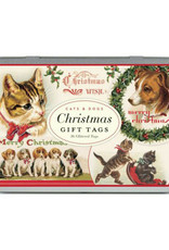 Glitter Gift Tags in Tin: Cats & Dogs