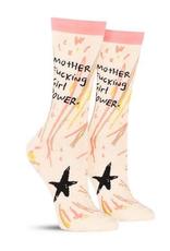 Blue Q Motherfucking Girl Power Feminist Women's Crew Socks