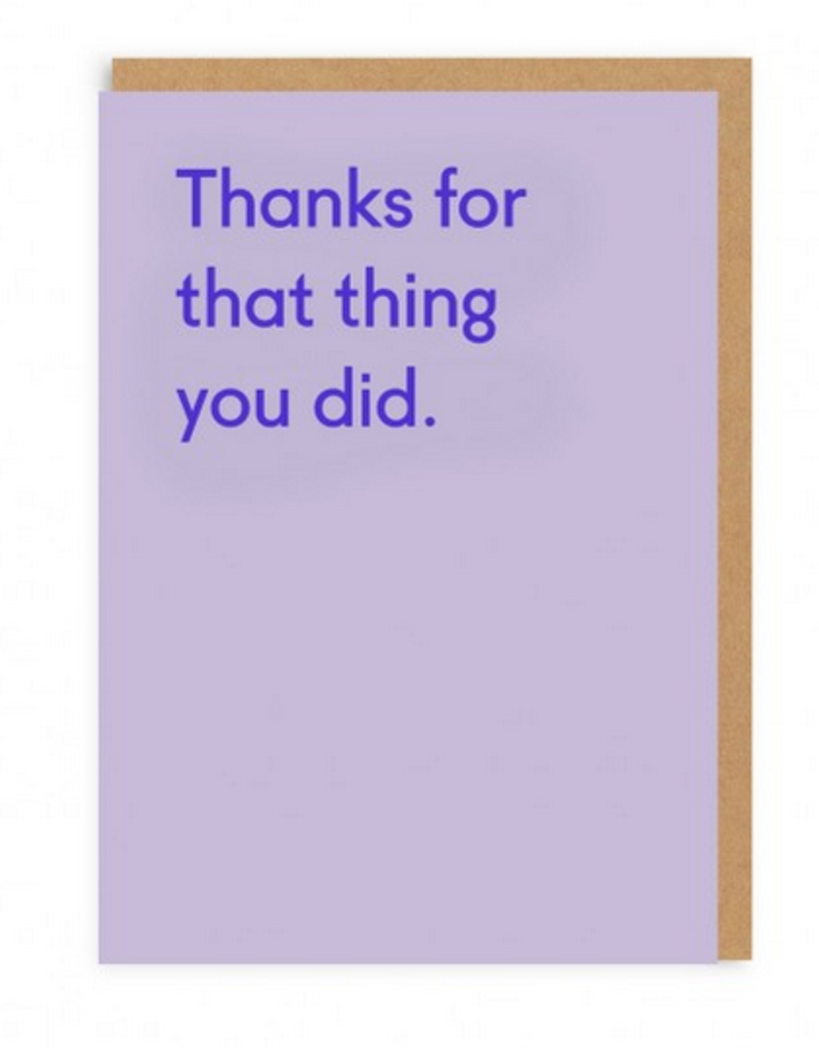 Ohh Deer Thanks For That Thing You Did Greeting Card