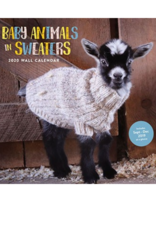 Chronicle Books Baby Animals in Sweaters 2020 Wall Calendar
