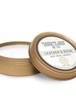DesignWorks Ink Travel Candle - Leather & Resin