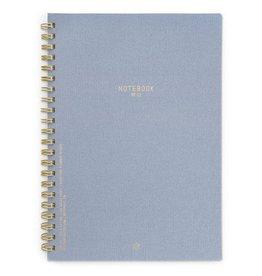DesignWorks Ink Textured Paper Wire Notebook - Neptune