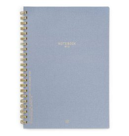 Textured Paper Wire Notebook - Neptune