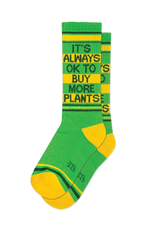 Gumball Poodle It's Always OK To Buy More Plants Ribbed Gym Socks