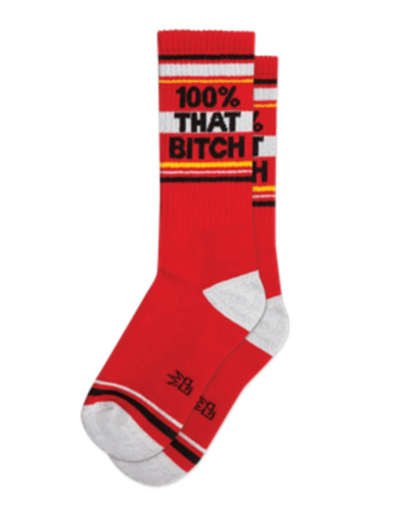 100% That Bitch Ribbed Gym Socks