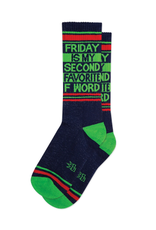 Friday Is My Second Favorite F Word Ribbed Gym Socks