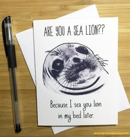 YeaOh Greetings Funny Sea Lion Pun Greeting Card