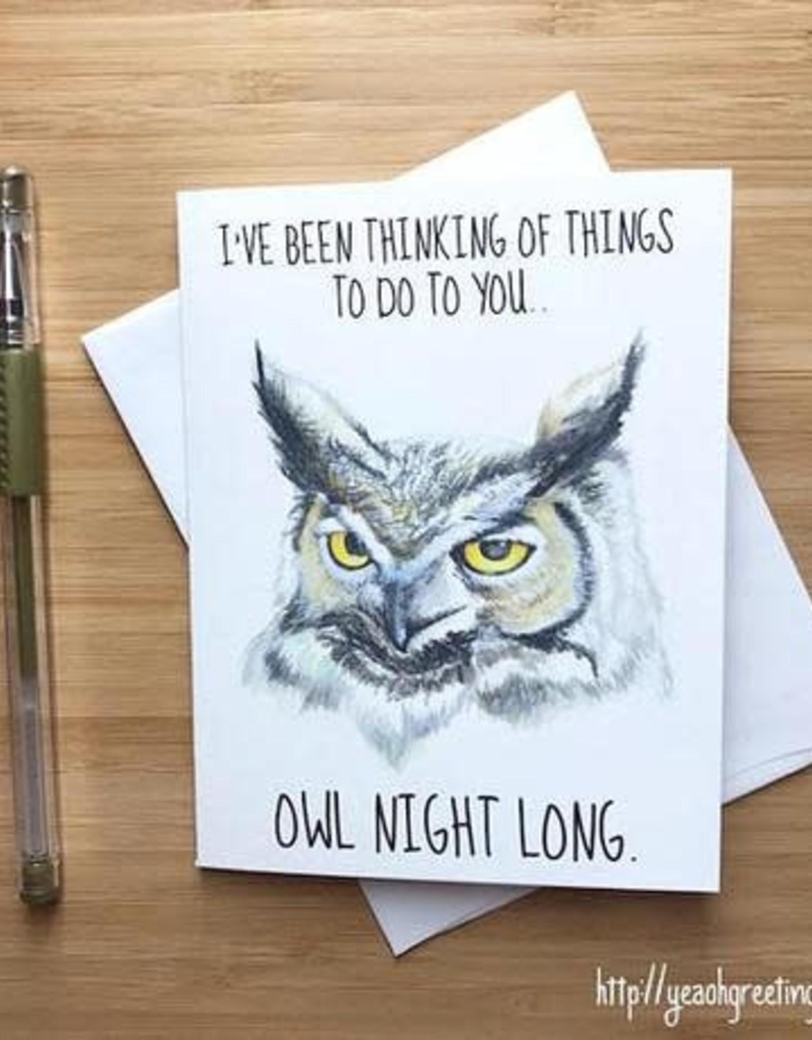 Owl Pun Love Greeting Card