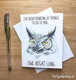 Owl Pun Love Greeting Card