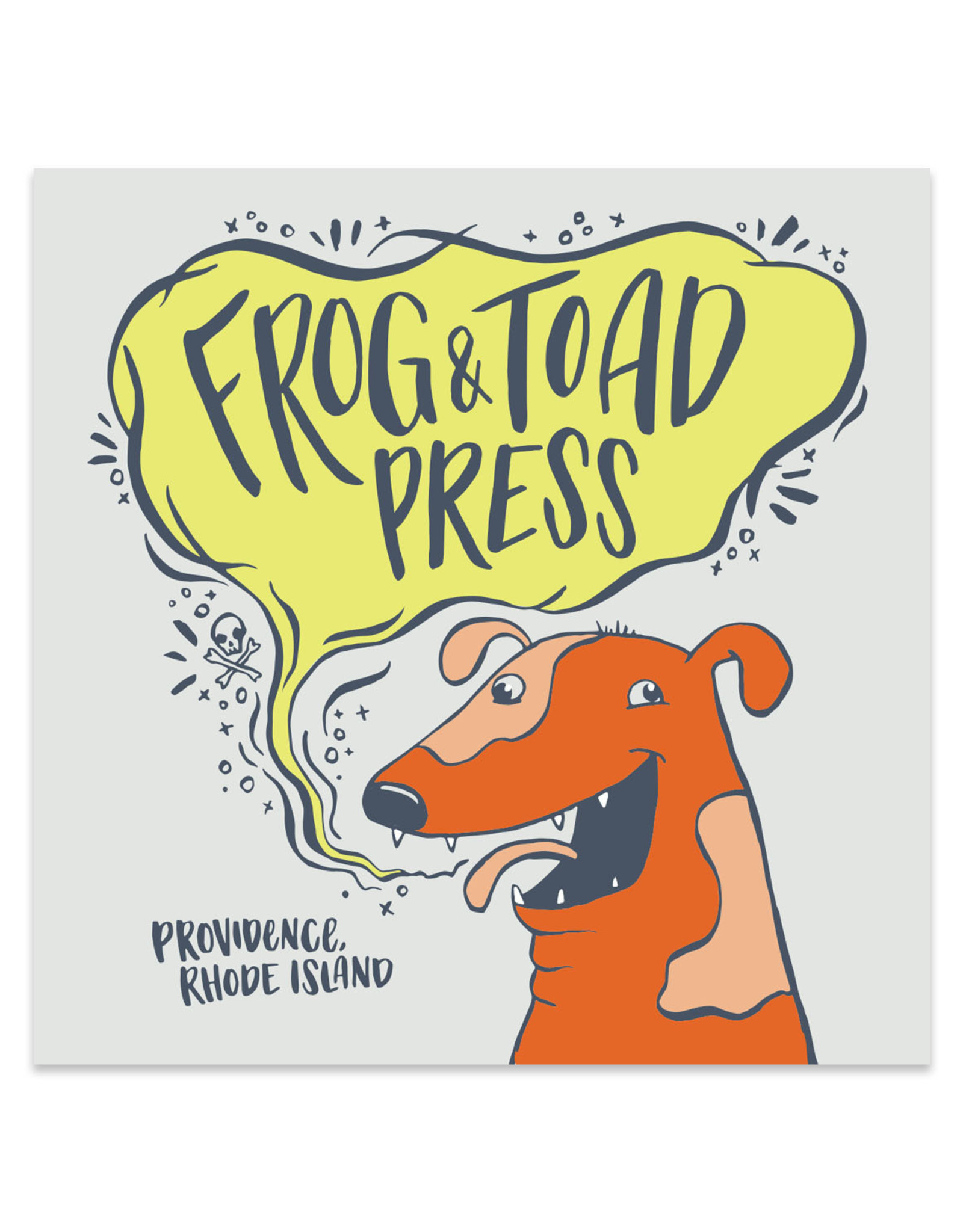 Frog & Toad Press Dog Breath Sticker