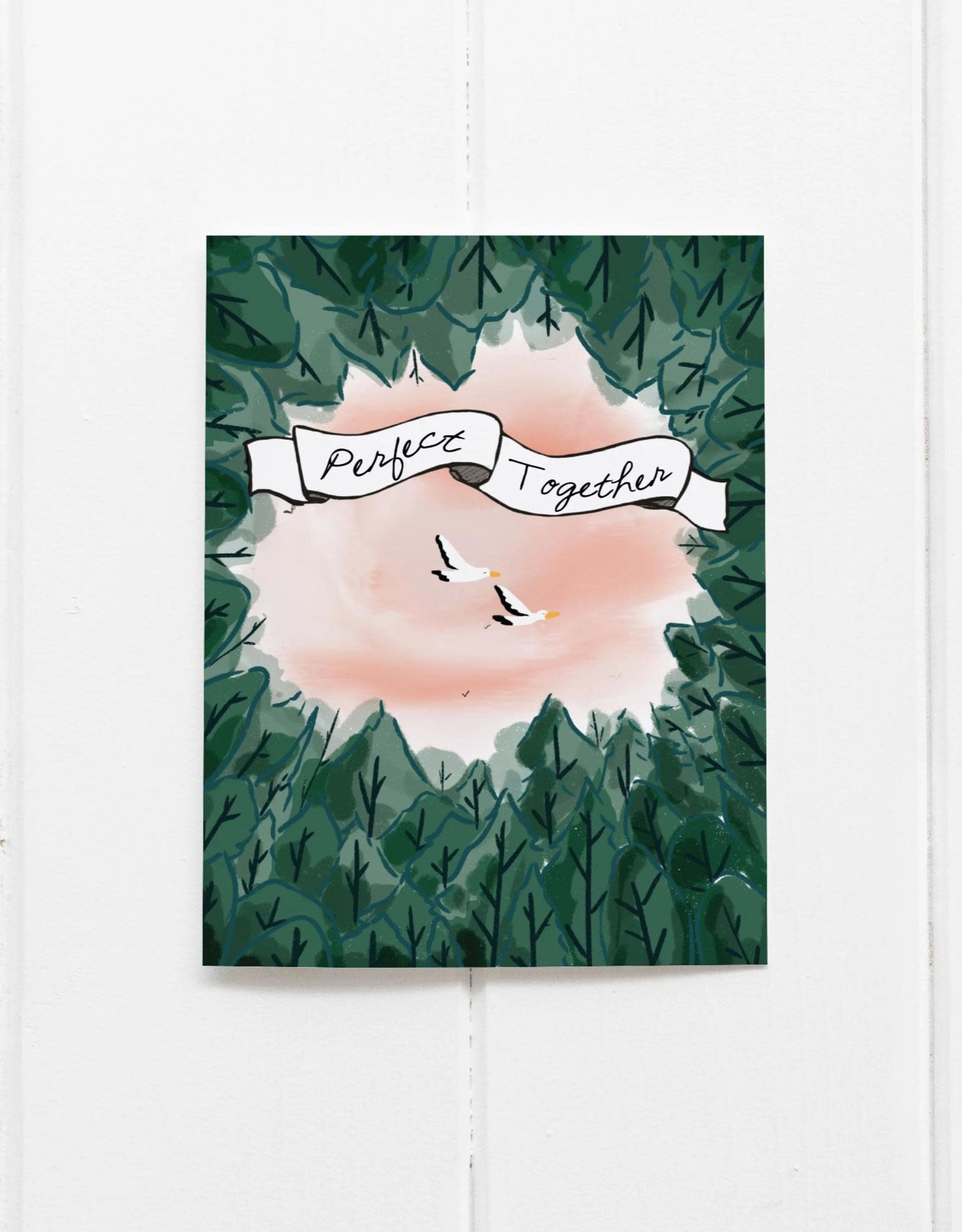 Perfect Together (Birds) Greeting Card