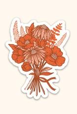 California Poppy Bouquet Sticker