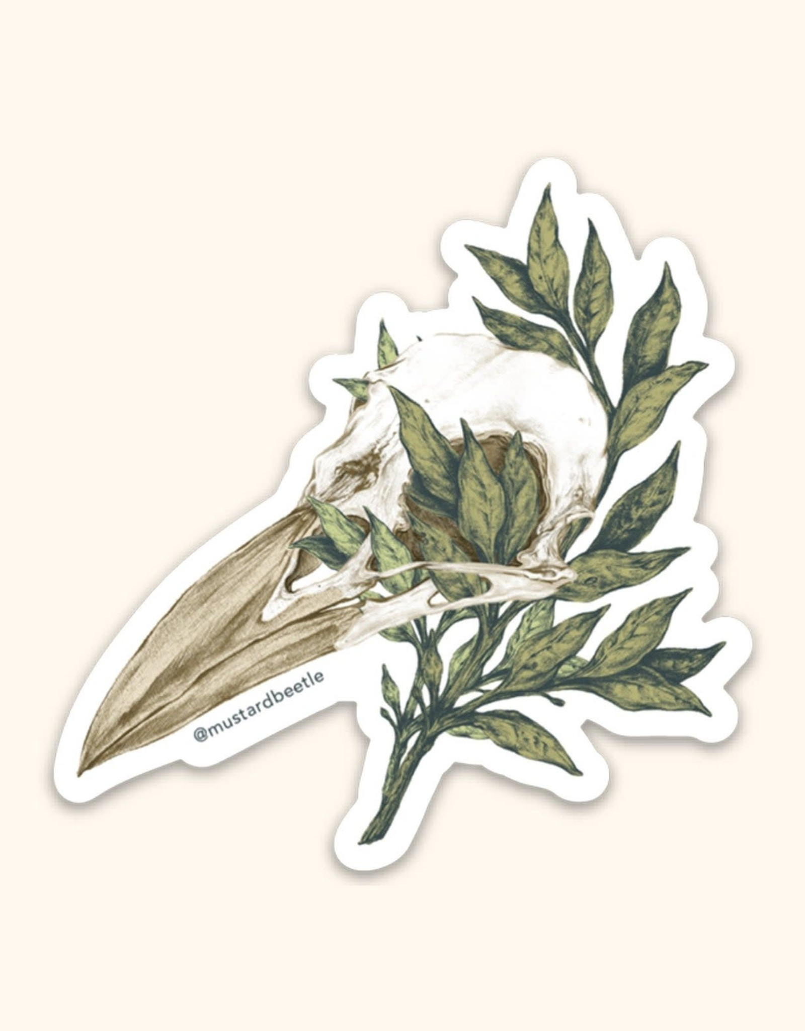 Crow Skull Sticker