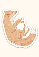 Illustrated Fox Sticker