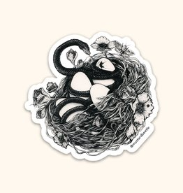 Snake in a Bird's Nest Sticker