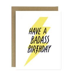 Worthwhile Paper Badass Birthday Greeting Card