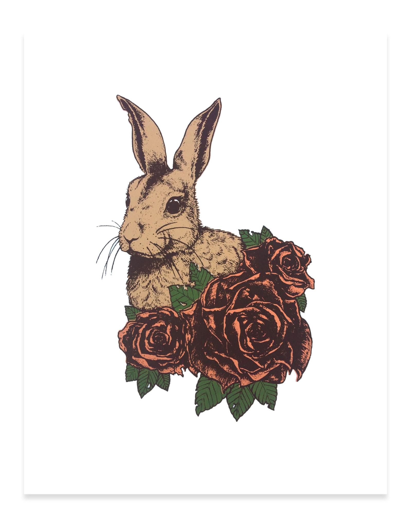 Crouching Rabbit Print
