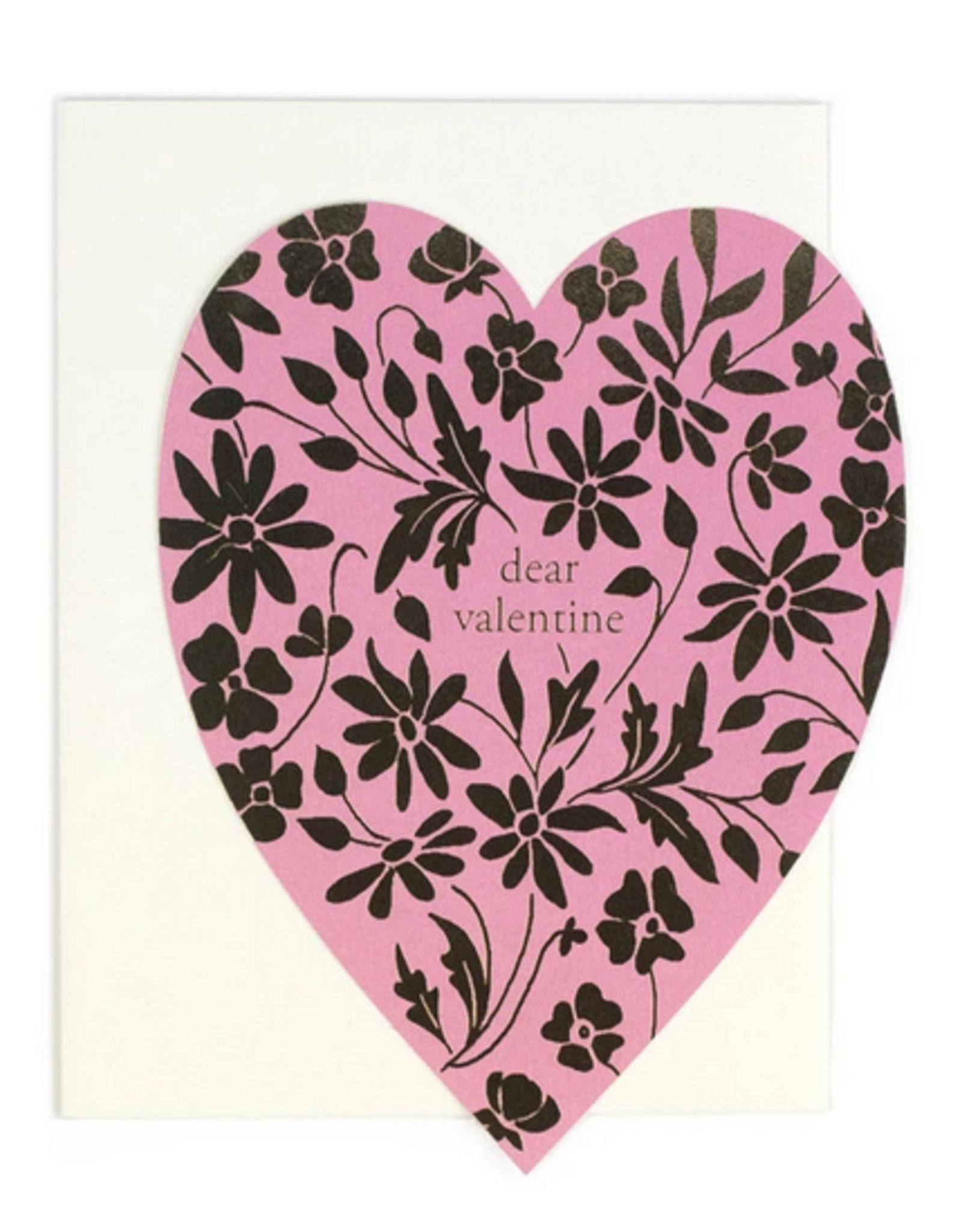 Dear Valentine Heart Greeting Card