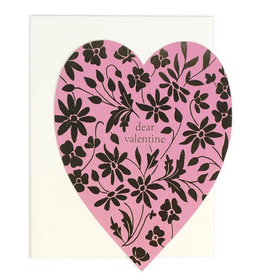 Dear Valentine Heart Greeting Card
