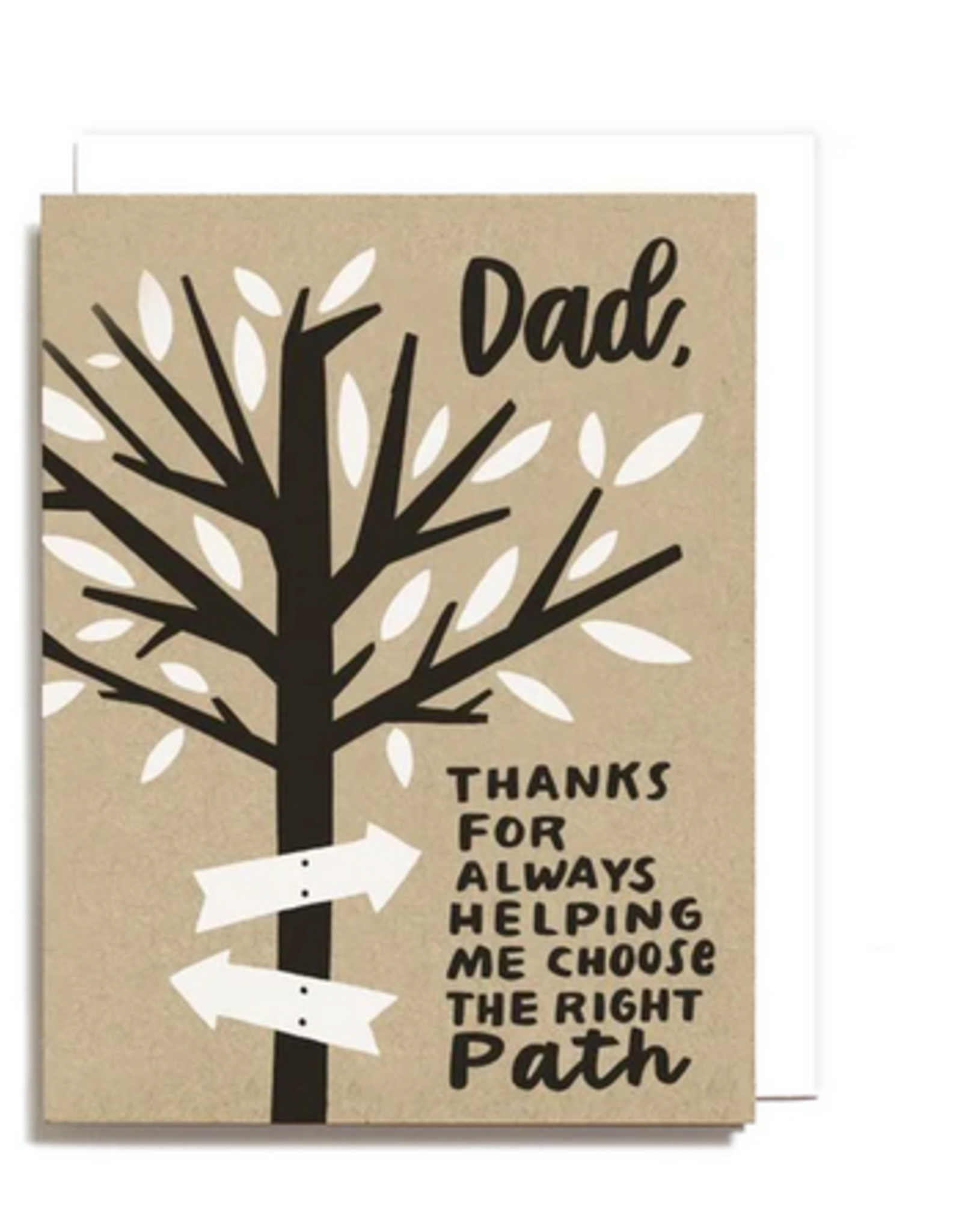 Dad Right Path Greeting Card