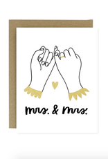 Mrs. & Mrs. Pinky Promise Greeting Card
