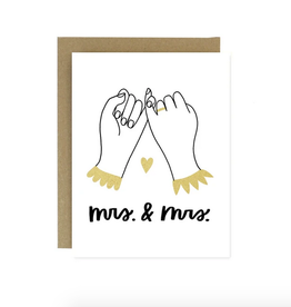 Worthwhile Paper Mrs. & Mrs. Pinky Promise Greeting Card