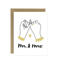 Worthwhile Paper Mr. & Mrs. Pinky Promise Greeting Card