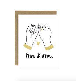 Worthwhile Paper Mr. & Mr. Pinky Promise Greeting Card