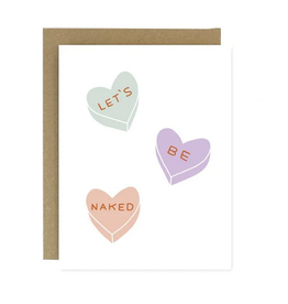 Worthwhile Paper Let's Be Naked Greeting Card