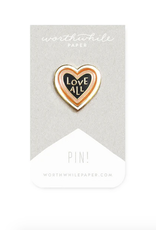 Worthwhile Paper Love All Enamel Pin