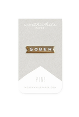 Sober Enamel Pin