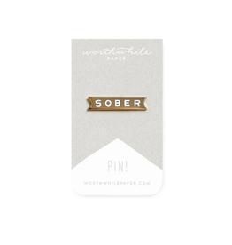 Worthwhile Paper Sober Enamel Pin