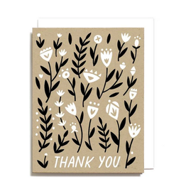 Thank You Floral Pattern Boxed Set of 6