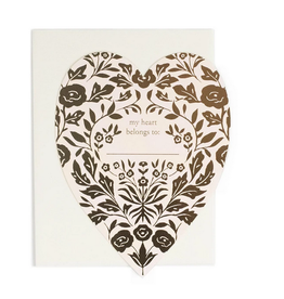 Amy Heitman Illustration My Heart Belongs To Greeting Card