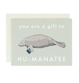Amy Heitman Illustration Gift to Hu-Manatee Greeting Card