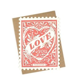 Amy Heitman Illustration Love You Forever Stamp Greeting Card